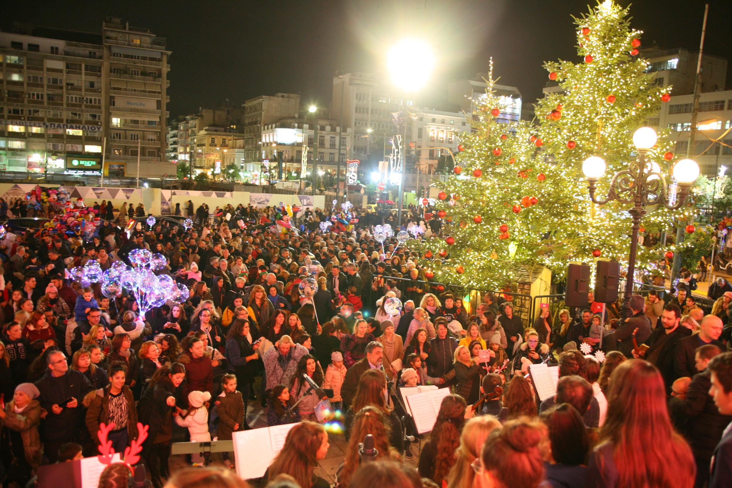 Βίντεο από την φωταγώγηση του χριστουγεννιάτικου δέντρου